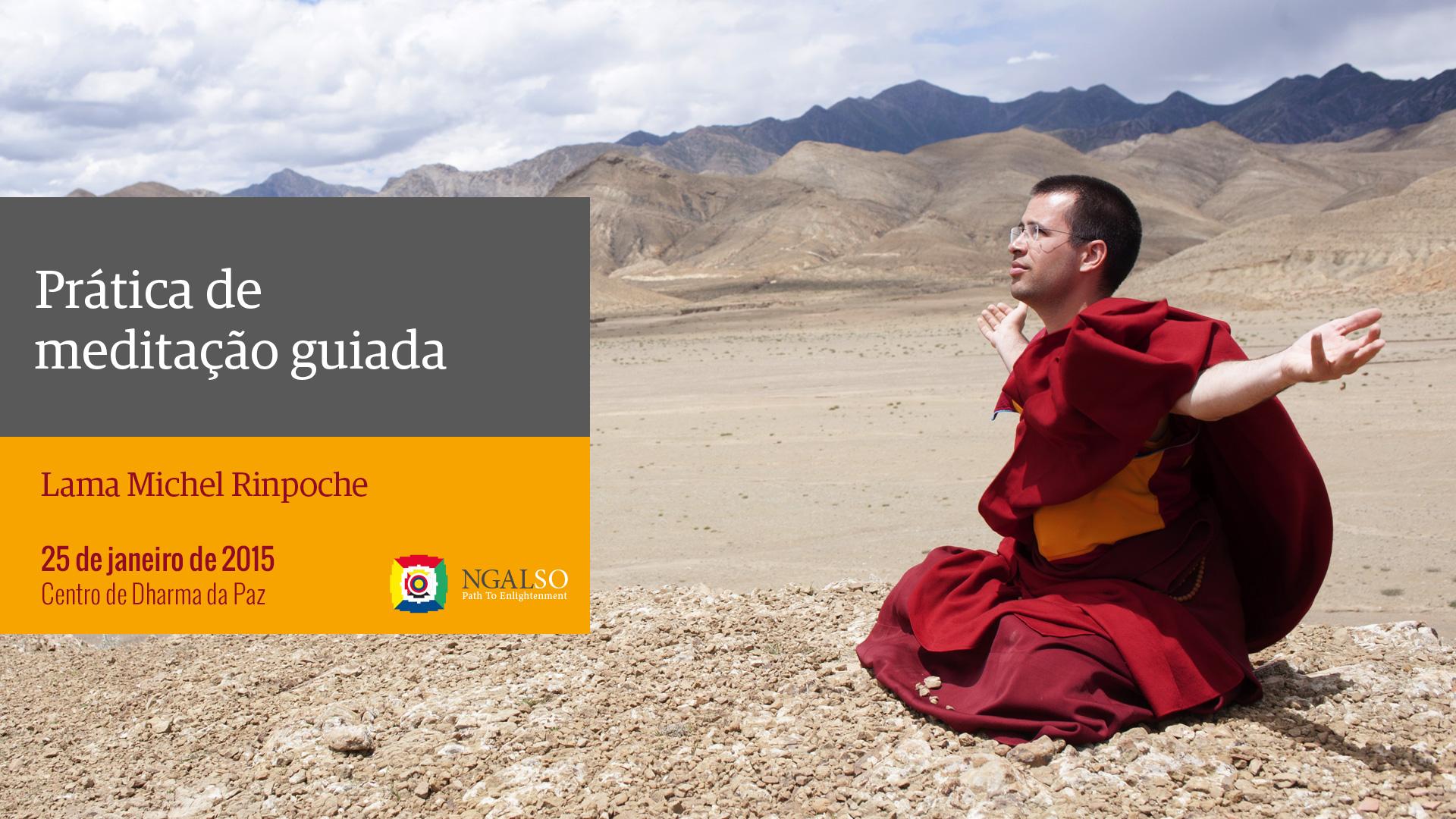 Prática de meditação guiada