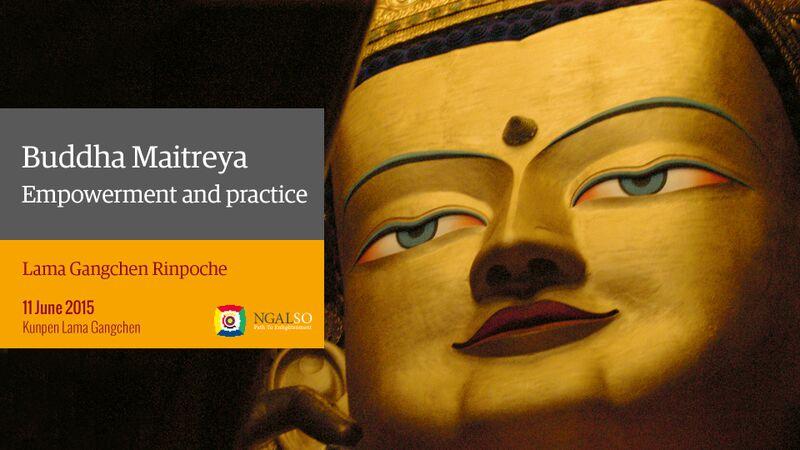 Iniziazione e pratica di Buddha Maitreya (inglese – italiano) – 11 giugno 2015
