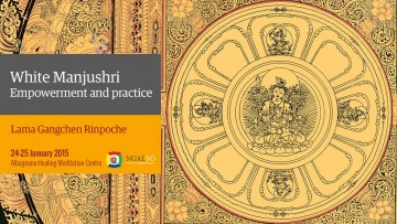 White Manjushri Empowerment and practice (English-italiano) – 24/25 January 2015