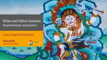 White and Yellow Zambala Empowerment and practice (English – Italian) – 26 March 2015