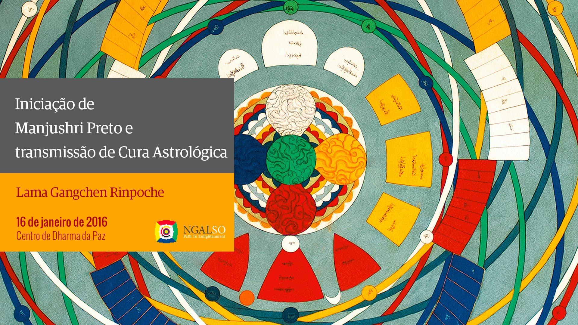 Transmissão de Cura Astrológica e Iniciação de Manjushri Preto