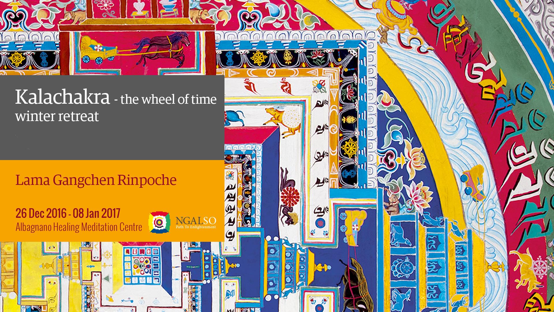 Kalachakra Festival – The Wheel of Time – Winter retreat (English-Italian) – 2016/2017