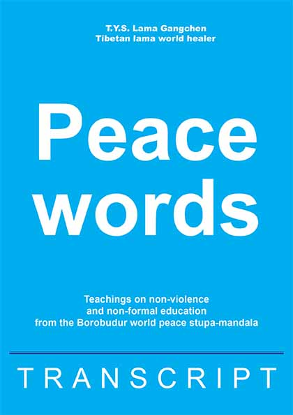 (Book) Peace Words, Lama Gangchen Rinpoche
